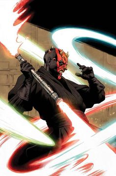 'Darth Maul' by Paolo Rivera. Cover art for 'Star Wars: Age Of Republic - Darth Maul' one shot issue, published December 2018 by Marvel Comics Images Star Wars, Star Wars Pictures, Star Wars Fan Art, Star Wars Clone Wars, Star Trek, Assasin Creed Unity, Star Wars Brasil, Darkside Books, Anniversaire Star Wars