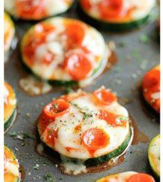 Zucchini Pizza Bites | Food- Mafia