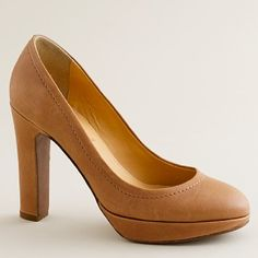 A classic pump in a neutral color will look great on women with warm skin tones.  Pair it with everything from a skirt to denim.So Pinned by onto Women's Business Executive Style from jcrew.comvery pretty, -