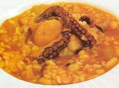 Arròs amb naps i polp - Arroz con nabos y pulpo cocina valenciana