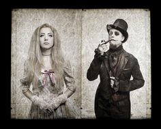 """UnSun (band 06-016) guitarist Mauser and his wife, lead vocalist Anna """"Aya"""" Stefanowicz"""