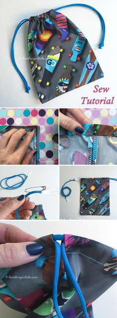 Small Bag or Gift Bag Tutorial   http://www.handmadiya.com/2018/05/small-bag-or-gift-bag-tutorial.html