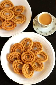 """As part of Diwali celebrations I prepared chakli or murukku at my home along with regular sweet """"yelappa"""" this time. Posting the easy chakli recipe for you. Indian Sweets, Indian Snacks, Indian Food Recipes, My Recipes, Snack Recipes, Cooking Recipes, Favorite Recipes, Vegan Recipes, Vegetarian Platter"""