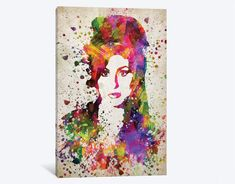 Framed Amy Winehouse Canvas Prints - 1 Piece Amy Winehouse Artwork Canvas Painting on Wall Art for Office and Home Wall Decor Stretched Canvas Prints, Canvas Art Prints, Framed Prints, Home Wall Decor, State Art, Canvas Material, Canvas Frame, 1 Piece, Creative Art