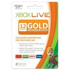 Xbox 360 Live 12-Month Gold...