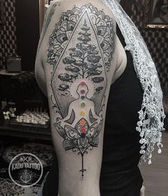 Buddha and mandala tattoo