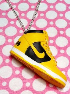 Nike Wu Tang Hi Top Dunk Sneaker Necklace by KorpseCrafts on Etsy, $20.00