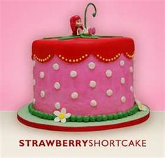 Might make this for my little Hannah's bday in a couple of weeks! Vanilla buttercream frosting, not fondant! Quick and easy Strawberry Shortcake birthday cake. Toddler Birthday Cakes, 3rd Birthday Cakes, Birthday Ideas, Diy Birthday, Strawberry Shortcake Birthday Cake, Strawberry Cakes, Fondant Cakes, Cupcake Cakes, Food Cakes