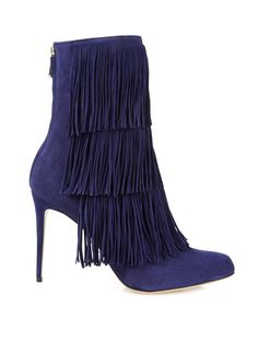 Paul Andrew Taos #fringed suede ankle #boots