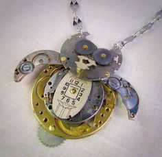 A personal favorite from my Etsy shop https://www.etsy.com/listing/268938719/watchpart-owl-necklace-steampunk-owl