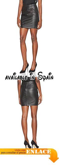 B071ZJVQTS : ICHI Santi SK Falda para Mujer Schwarz (Black 10011) 40.