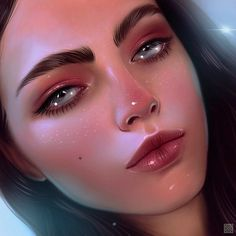 THIS ART THOUGH. HOLY CRAP. Digital Art Girl, Digital Portrait, Portrait Art, Cool Art Drawings, Realistic Drawings, Dibujos Cute, Digital Illustration, Creative Art, Amazing Art