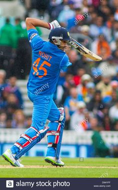 June India's Rohit Sharma batting during the ICC Champions Trophy international cricket match between India and The West Indies at The Oval Cricket India Cricket Team, Cricket Sport, Cricket Match, Mumbai Indians Ipl, Cricket Wallpapers, Champions Trophy, London Photos, Most Beautiful Indian Actress, Picture Collection