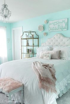 Daughter's New Tween Room My Daughter's New Tween Room – 11 Magnolia Lane Easy and affordable decorating ideas for a teen/tween/girls room.My Daughter's New Tween Room – 11 Magnolia Lane Easy and affordable decorating ideas for a teen/tween/girls room. Bedroom Ideas For Teen Girls, Cute Bedroom Ideas, Cute Room Decor, Girl Bedroom Designs, Kids Bedroom Ideas For Girls Tween, Preteen Girls Rooms, Blue Girls Rooms, Cute Teen Rooms, Girl Room Decor