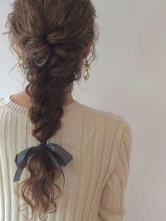 Curly French Braid