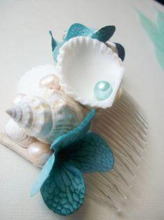 beach wedding ocean wedding natural shell bridal by emsdesertrose, $30.00