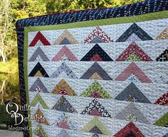 Quilted Delights: Strip Tube Quit Finally Finished