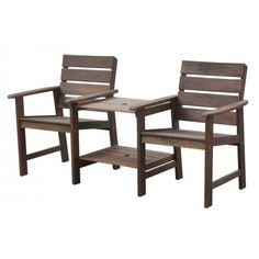 De Zürich is een tête-à-tête #tuinbank van #SensLine. Twee comfortabele zitplaatsen met daar tussenin een handige tafel, gemaakt van duurzaam hardhout.