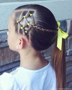 Trendy Ideas For Hair Tutorial Ponytail Girl Hairstyles Ponytail Hairstyles Tutorial, Side Braid Hairstyles, Braided Hairstyles Tutorials, Hair Tutorials, Updo Hairstyle, Girls Hairdos, Baby Girl Hairstyles, Wedding Hairstyles, Candy Corn