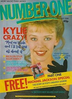 Kylie, Gary Glitter on the Front & Back Cover's. Number One Magazine. Uk Magazines, Vintage Magazines, Lenny Henry, Kylie Minouge, Natalie Imbruglia, Joey Tempest, 80s Pop, Pet Shop Boys, Debbie Gibson