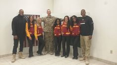 Karl Gatke, Sergeant First Class, Oregon National Guard Afghanistan, Center, USO visit