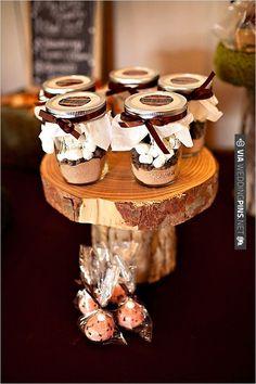 hot coco wedding favors | CHECK OUT MORE IDEAS AT WEDDINGPINS.NET | #weddingcakes
