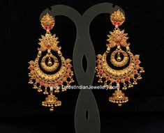 Gold Antique Heavy Chand Balis 42gm