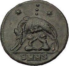 CONSTANTINE I Romulus Remus SheWolf Rome Commemorative Ancient Roman Coin i53260 https://trustedmedievalcoins.wordpress.com/2015/12/18/constantine-i-romulus-remus-shewolf-rome-commemorative-ancient-roman-coin-i53260/