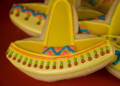 Yellow Sombrero Fiesta Cookies