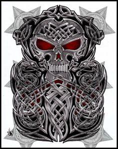 Celtic Skull half sleeve by shepush on DeviantArt