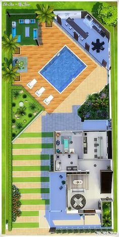 Recanto dos Sonhos - The Sims can find The sims and more on our website.Recanto dos Sonhos - The Sims 4 Sims 4 House Plans, Sims 4 House Building, Porch House Plans, Building Plans, Building Facade, Building Elevation, Building Map, Building Ideas, Building Materials
