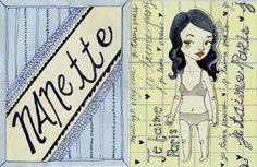 Papier Nanette Paper Doll