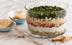 Seven-Layer Vegetarian Greek Dip by Food Network Kitchens @FoodNetwork_UK