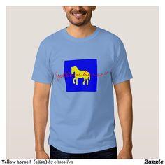 Yellow horse!!  (eliso) playera
