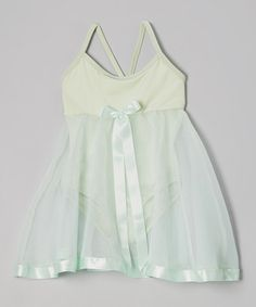 Look what I found on #zulily! Mint Ribbon Babydoll Skirted Leotard - Toddler & Girls by Ferreira #zulilyfinds