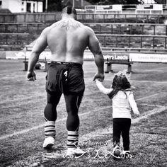 Photographing at Giants Live Headingley Stadium Leeds x  Strongman Ed Hall