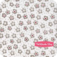 Hug Me White Polka Dots and Florals Yardage SKU# Y1077-1