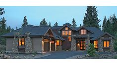 ePlans Contemporary/Modern House Plan – Contemporary Craftsman-Style Lodge – 3476 Square Feet and 4 Bedrooms from ePlans – House Plan Code HWEPL77117