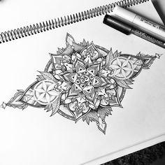 New mandala tattoo design ... :) #miletune