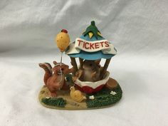 TEENY TINY TAILS THE TICKET BOOTH FITZ AND FLOYD FIGURINE CHARMING VGC