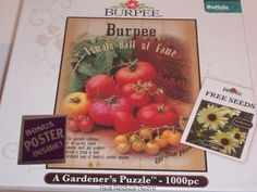 Burpee Jigsaw A Gardener'S Puzzle 1000 PC NEW Sealed 27 X 20 Seed Pack Poster   eBay  $8.42 SUMMER CLEARANCE SALE!