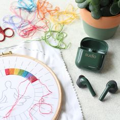 Hand Embroidery Kits, Embroidery Sampler, Modern Embroidery, Embroidery Art, Craft Kits, Diy Kits, Rain Music, Meditation Gifts, Meditation For Beginners