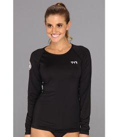 4619085e1b379d Tyr l s swim shirt black 2