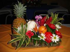f-2  centro de mesa hawaiano