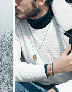 Mix luxury and sport with refined bracelets and distinctive necklaces