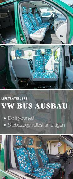 VW Bus Sitzbezüge selbst machen. Erfahre in einer Schritt für Schritt Anleitung wie du aus deinen alten Sitzbezügen im Auto tolle neue machen kannst.