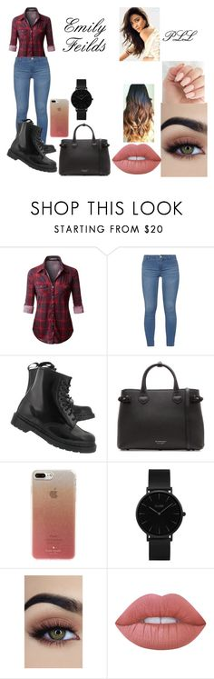 """Emily Feilds / Shay Mitchell"" by lauren-paul-sets ❤ liked on Polyvore featuring Dorothy Perkins, Dr. Martens, Burberry, Kate Spade, CLUSE, Lime Crime, like, pll, shaymitchell and emilyfeilds"