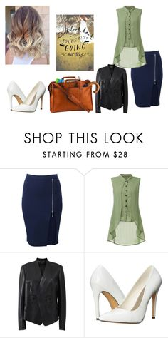 """""""Work?"""" by madabby1 ❤ liked on Polyvore featuring Alexander Wang, Versace, Michael Antonio and Royce Leather"""