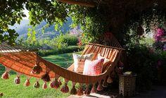 Hammock in a garden https://www.onekingslane.com/live-love-home/hammocks/