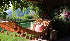 Hammock in a garden https://www.onekingslane.com/live-love-home/hammocks/